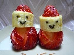 イチゴで雛人形
