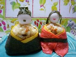 ちらし寿司ひな人形